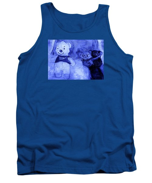 Pooh Bear And Friends Tank Top by Denise Fulmer