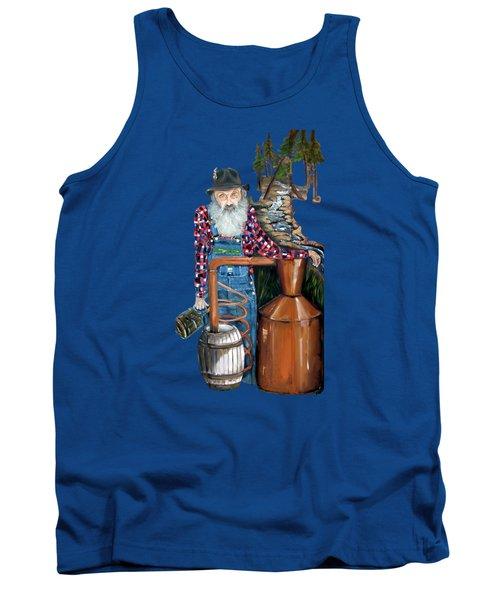 Popcorn Sutton Moonshiner -t-shirt Transparrent Tank Top