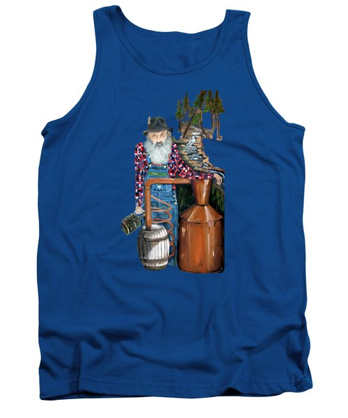 Popcorn Sutton Moonshiner -t-shirt Transparrent Tank Top