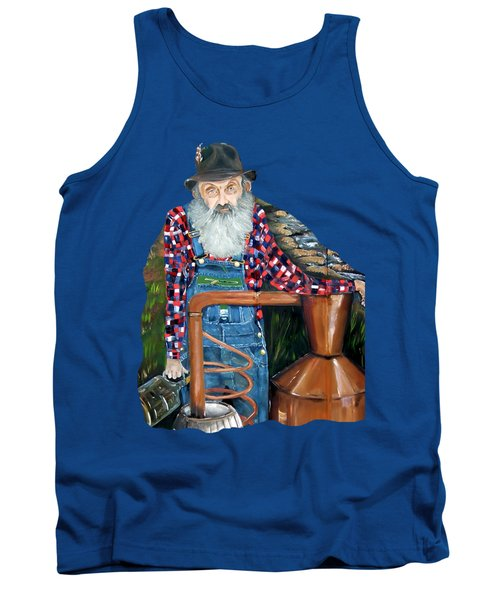 Popcorn Sutton Moonshiner - Tshirt Transparent Torso Tank Top