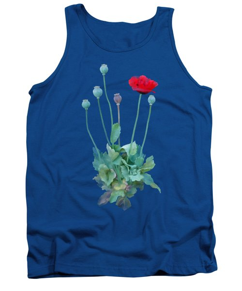 Tank Top featuring the painting Poppy by Ivana Westin