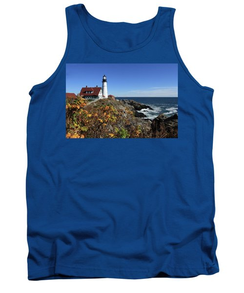 Portland Head Lighthouse In The Fall Tank Top