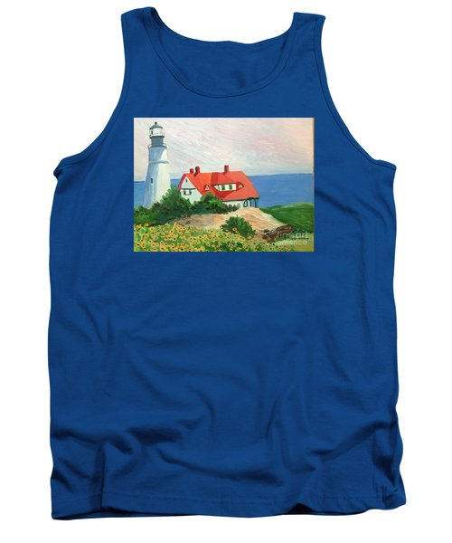 Portland Headlight With Brown Eyed Susans Tank Top