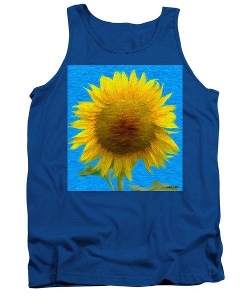 Portrait Of A Sunflower Tank Top
