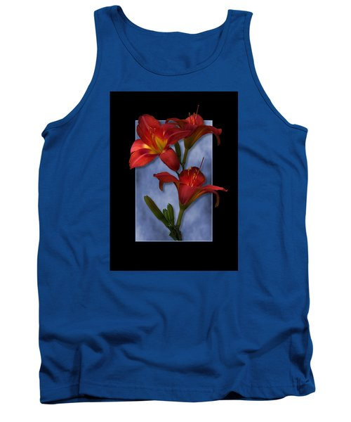 Portrait Of Red Lily Flowers Tank Top