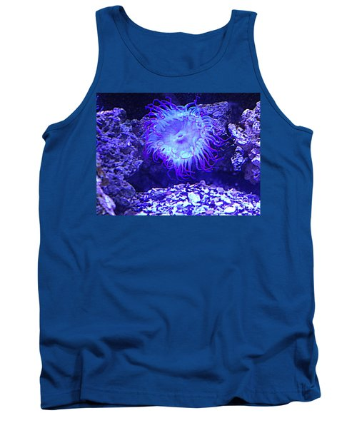 Tank Top featuring the photograph Predatory Terrestrial Sea Anemone by Richard W Linford