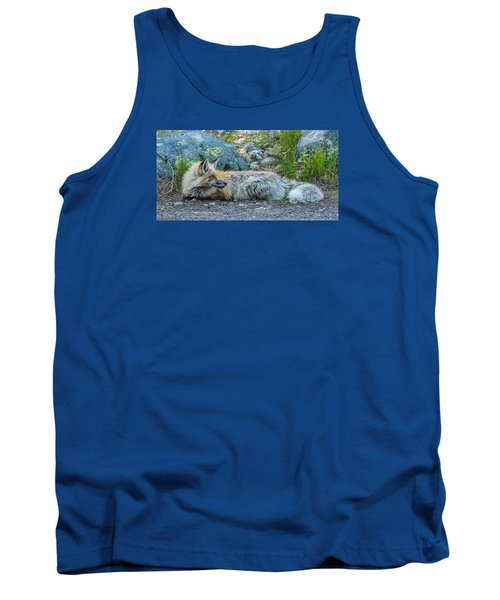 Tank Top featuring the photograph Pretty Boy Fox In Spring by Yeates Photography
