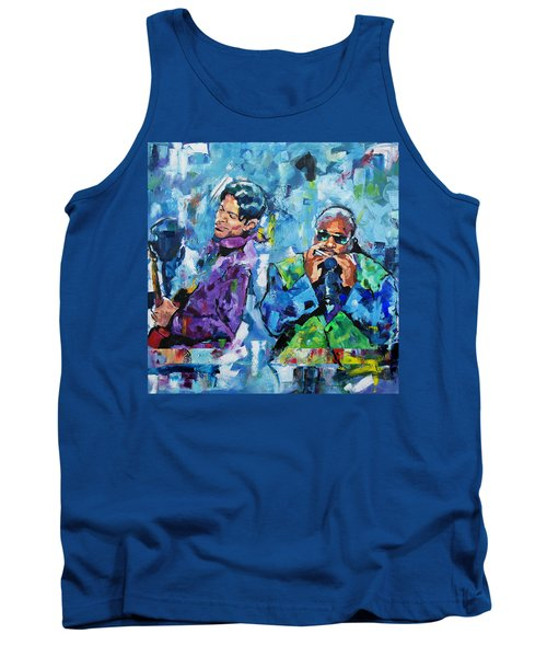 Tank Top featuring the painting Prince And Stevie by Richard Day