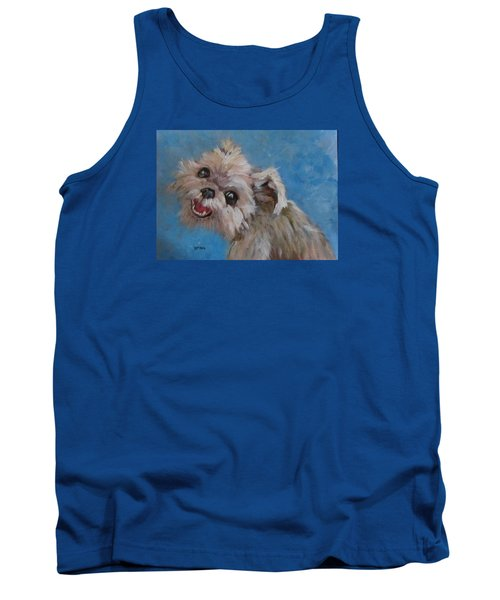 Pudgy Smiles Tank Top by Barbara O'Toole