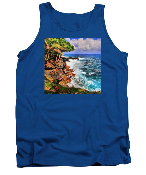 Tank Top featuring the photograph Puna Coast Hawaii by DJ Florek