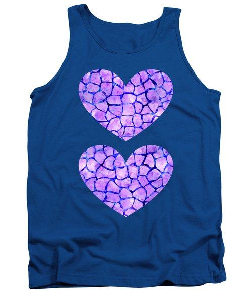 Purple Giraffe Print Tank Top
