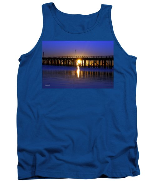 Tank Top featuring the photograph Purple Ocean Sunrise by Gary Crockett
