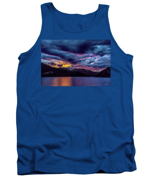Purple Sunset At Summit Cove Tank Top