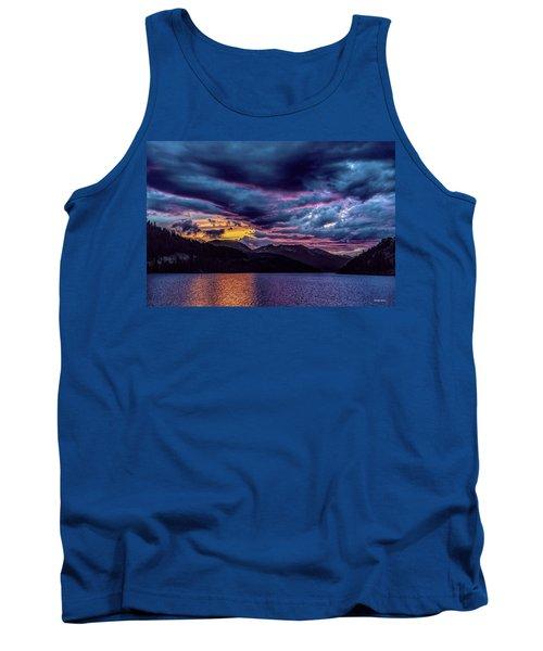 Purple Sunset At Summit Cove Tank Top