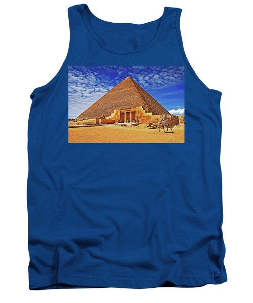 Tank Top featuring the painting Pyramid by Harry Warrick