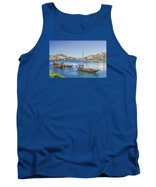 Tank Top featuring the photograph Rabelos On The Douro by Brian Tarr