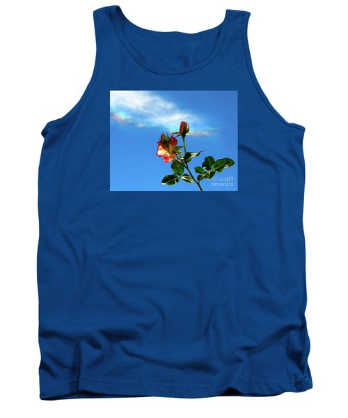 Rainbow Cloud And Sunlit Roses Tank Top