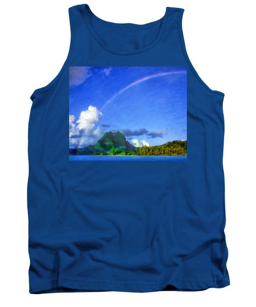 Rainbow Over Bora Bora Tank Top