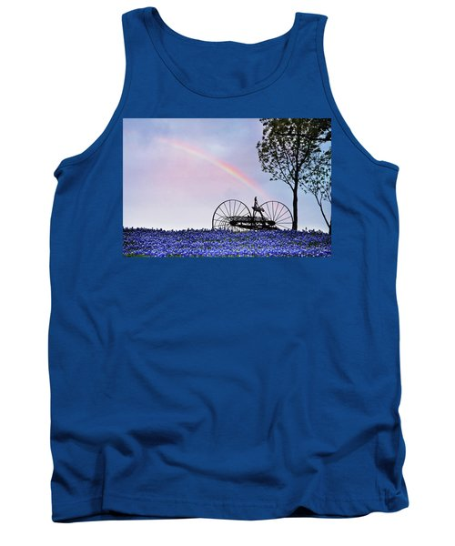 Rainbow Over Texas Bluebonnets Tank Top by David and Carol Kelly
