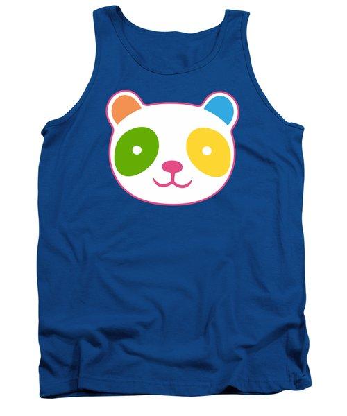 Rainbow Panda Tank Top