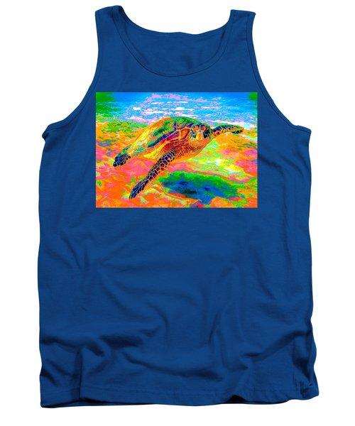 Rainbow Sea Turtle Tank Top