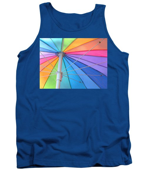 Rainbow Umbrella Tank Top