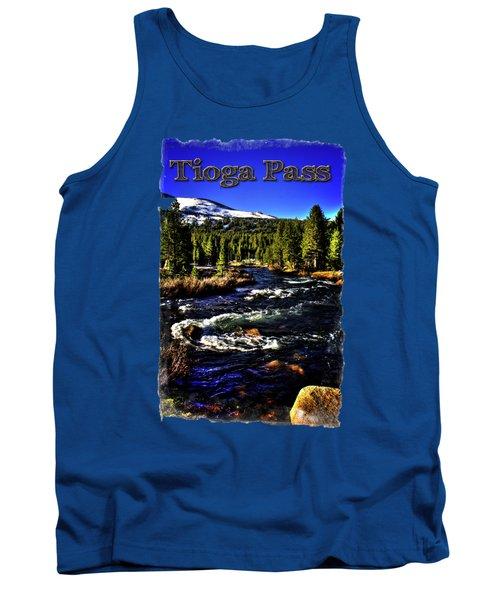 Rapids Along The Tioga Pass Road Tank Top