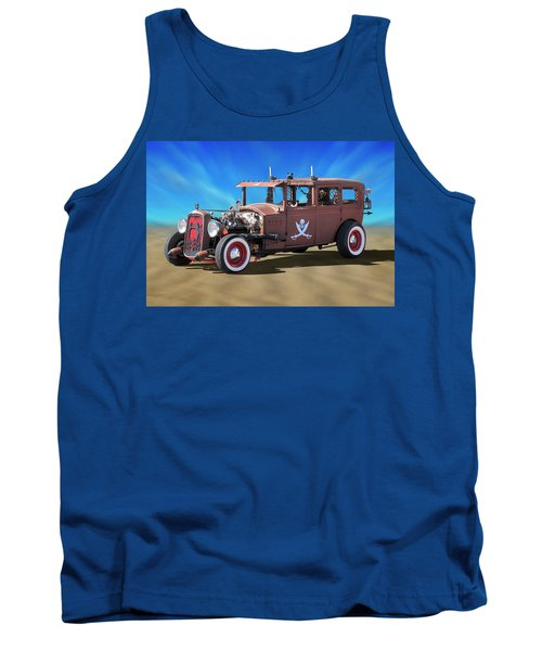 Tank Top featuring the photograph Rat Rod On Beach 3 by Mike McGlothlen