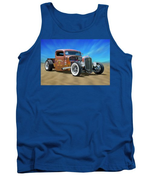 Tank Top featuring the photograph Rat Truck On The Beach by Mike McGlothlen