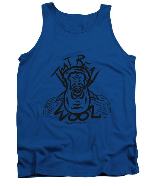 Real Wool Blue Tank Top