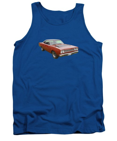 Red 1968 Plymouth Roadrunner Muscle Car Tank Top