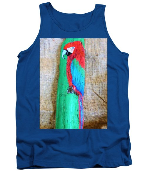Red And Green Macaw  Tank Top