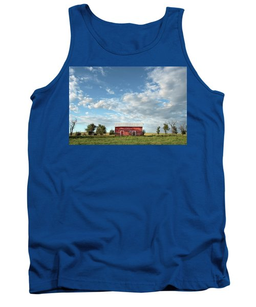 Red Barn On The Prairie Tank Top