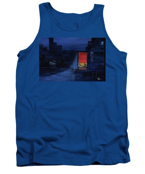 Tank Top featuring the painting Red Curtain by Anil Nene