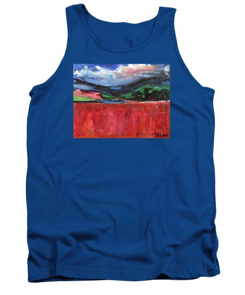 Red Field Landscape Tank Top