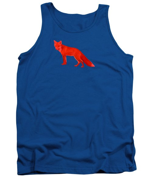 Red Fox Forest Tank Top by Movie Poster Prints