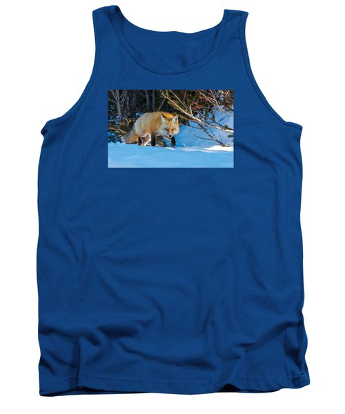 Tank Top featuring the photograph Red Fox In Winter Snow by Yeates Photography