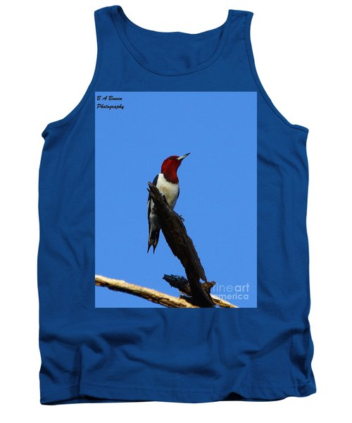 Red Headed Woodpecker On A Snag Tank Top