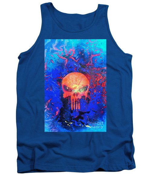 Red Punish Tank Top by Justin Moore