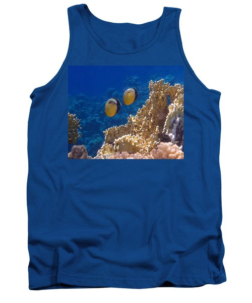 Red Sea Exquisite Butterflyfish  Tank Top