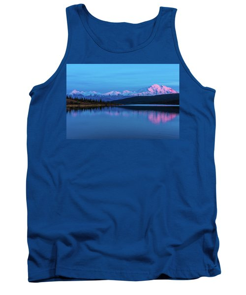 Sunset Reflections Of Denali In Wonder Lake Tank Top