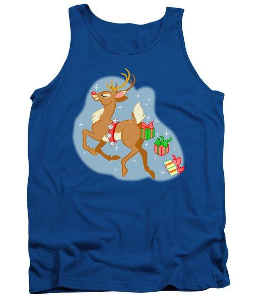 Reindeer Gifts Tank Top by J L Meadows