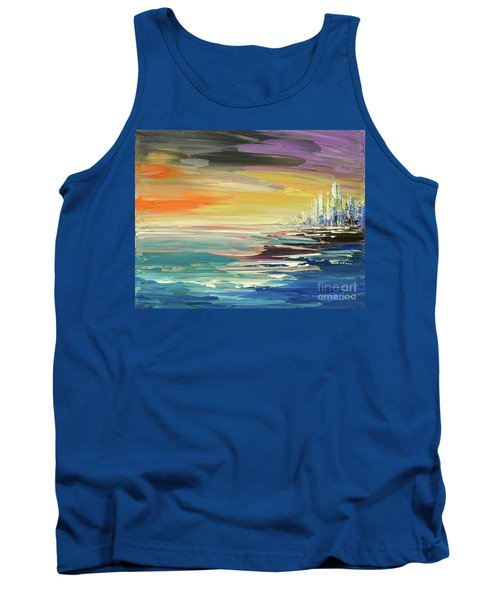 Tank Top featuring the painting Remote Harmonies by Tatiana Iliina
