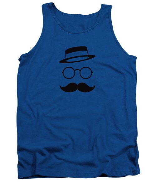 Retro Minimal Vintage Face With Moustache And Glasses Tank Top by Philipp Rietz