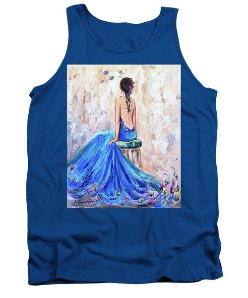 Rhapsody In Blue Tank Top by Jennifer Beaudet