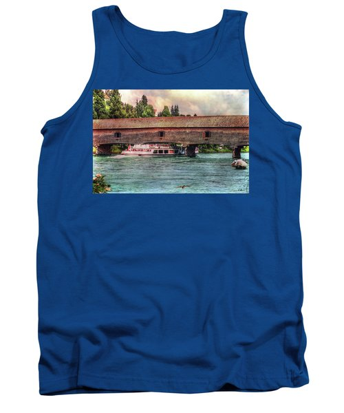 Tank Top featuring the photograph Rhine Shipping by Hanny Heim