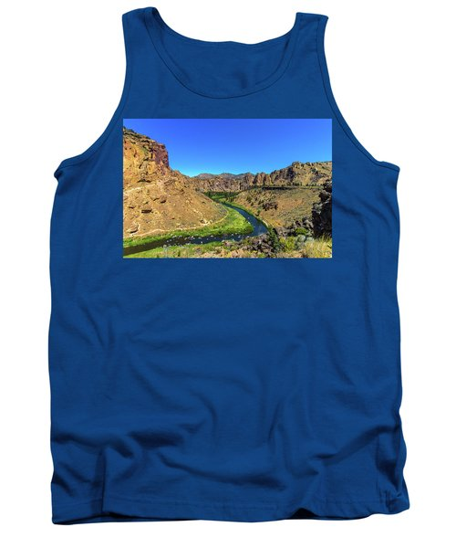 Tank Top featuring the photograph River Through Mountains by Jonny D