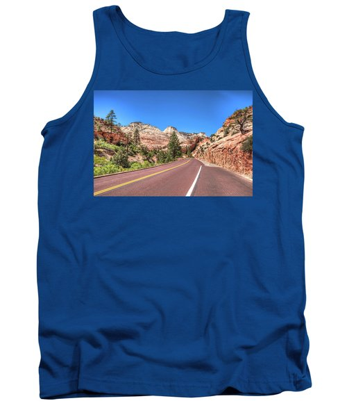 Tank Top featuring the photograph Road To Zion by Brent Durken
