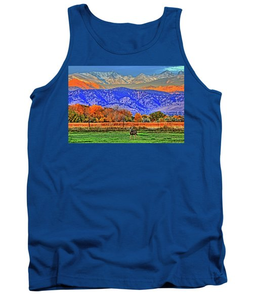 Tank Top featuring the photograph Rocky Mountain Deer by Scott Mahon