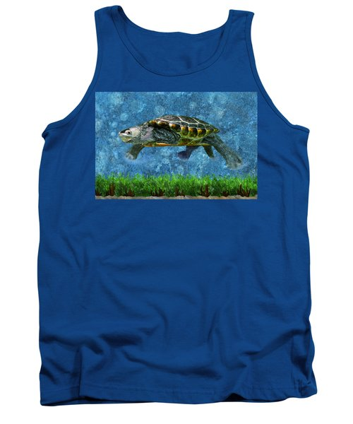 Rodney The Diamondback Terrapin Turtle Tank Top